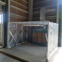 有機溶剤用ジャバラテント設置工事