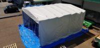 保管倉庫テント 折り畳み式 施工事例 in福島