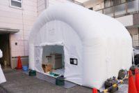 コロナ対策 施工事例 ウィルスを99.9%除去の隔離ユニット ツバメエアークリーンテント納入